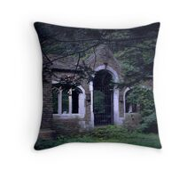 Neglected Castle Throw Pillow