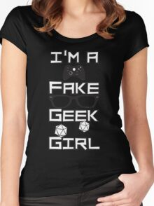 I'm A Fake Geek Girl Women's Fitted Scoop T-Shirt
