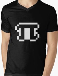 Black Pixel Pi Shirt Mens V-Neck T-Shirt