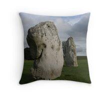 Dogstone - Avebury stone circle Throw Pillow