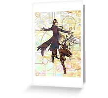 Sherlock Steampunk Greeting Card