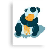 Pandas & squids Canvas Print
