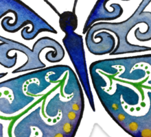 Colorful Tribal Butterfly painting by Artist Christie Marie Elder-Ussher Sticker