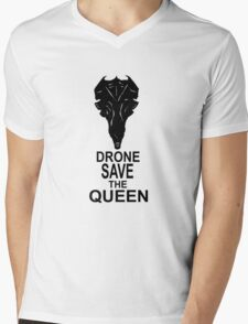 Drone Save The Queen Mens V-Neck T-Shirt