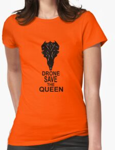 Drone Save The Queen Womens Fitted T-Shirt