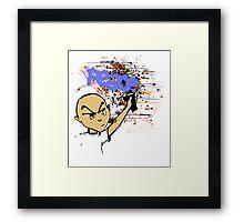 Peace Graffiti - Grunge T-Shirt Framed Print