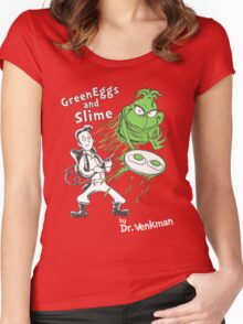 Green Eggs and Slime Women's Fitted Scoop T-Shirt