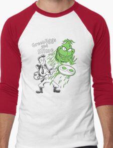 Green Eggs and Slime Men's Baseball ¾ T-Shirt