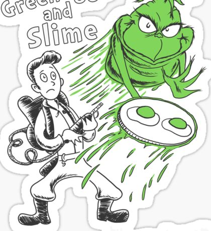 Green Eggs and Slime Sticker