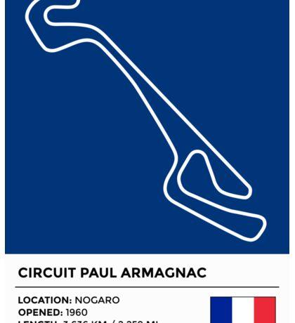 Circuit Paul Armagnac Sticker