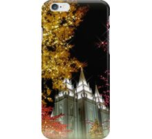 Evening Lights in Salt Lake City - Christmas iPhone Case/Skin