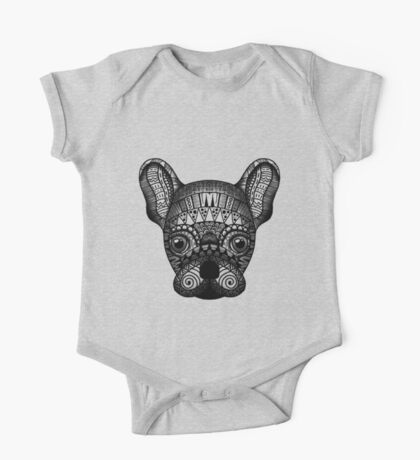Zentangle Dog One Piece - Short Sleeve