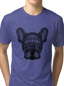 Zentangle Dog Tri-blend T-Shirt