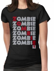 Zombie Stacked Womens Fitted T-Shirt