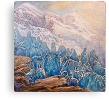 seracs, glaciers, Mont Blanc, Metal Print