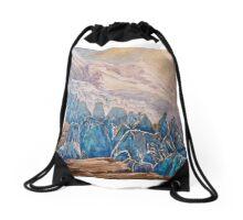 seracs, glaciers, Mont Blanc, Drawstring Bag