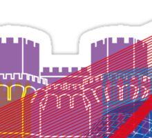 Valencia skyline pop Sticker