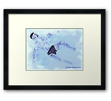 Floating In The Shallow  End Framed Print