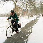 Biking through the snow by Smaragd