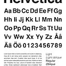 Typography Poster Helvetica Alphabet by Mattias Olsson