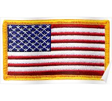 American, ARMY, Flag, Embroidered, Stars and Stripes, USA, United States, America, Military Badge Poster