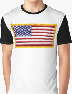 American, ARMY, Flag, Embroidered, Stars and Stripes, USA, United States, America, Military Badge Graphic T-Shirt