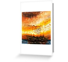 Boat through light waves Greeting Card