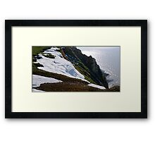 Snow Cliffs Framed Print