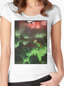 Monster Hotspring Women's Fitted Scoop T-Shirt