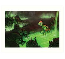 Monster Hotspring Art Print