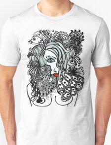 Girl and Bird Unisex T-Shirt