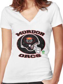 Mordor Orcs Women's Fitted V-Neck T-Shirt