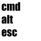 Cmd Alt Esc  by StevePaulMyers