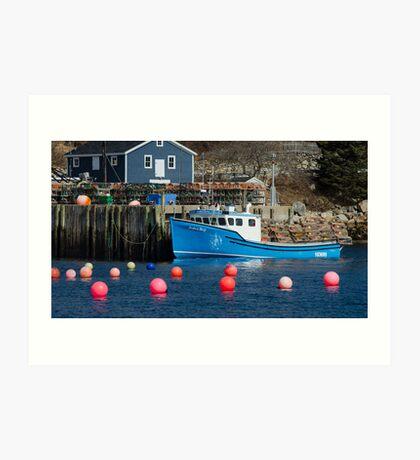 Nova Scotia Fishing Village Art Print