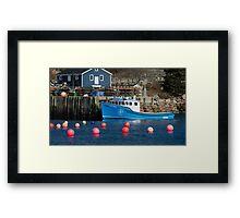 Nova Scotia Fishing Village Framed Print