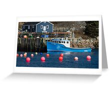 Nova Scotia Fishing Village Greeting Card