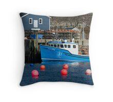 Nova Scotia Fishing Village Throw Pillow