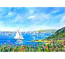 Sailing Boats off Falmouth Photographic Print