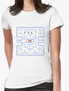 LOTR Pac-man Womens Fitted T-Shirt