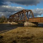 Abandoned Train Bridge by Randy Hill