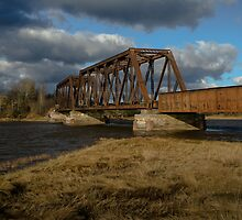 Abandoned Train Bridge by Randy Hill