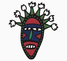 Cartoon Tribal Mask One Piece - Long Sleeve