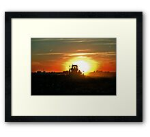 Plowing into the Sun Framed Print