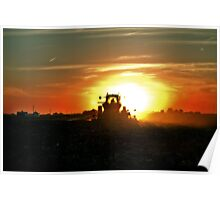 Plowing into the Sun Poster