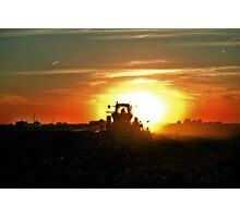 Plowing into the Sun Photographic Print