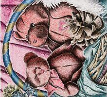 Bear Basket Still Life by jkartlife