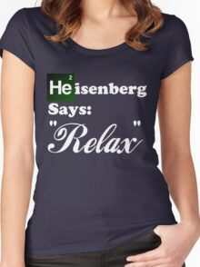 """Breaking Bad - Heisenberg Says """"Relax"""" Women's Fitted Scoop T-Shirt"""