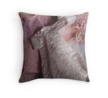 Vintage Dolls Clothes Throw Pillow