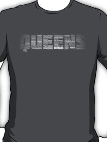 Queens NY Typography Text T-Shirt