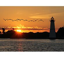 Rock Island Lighthouse Photographic Print